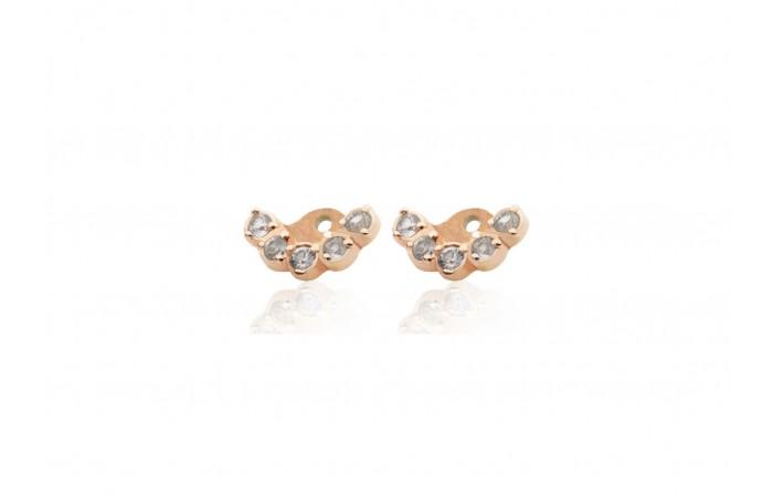 Nakładki do kolczyków White Sapphire Crowns