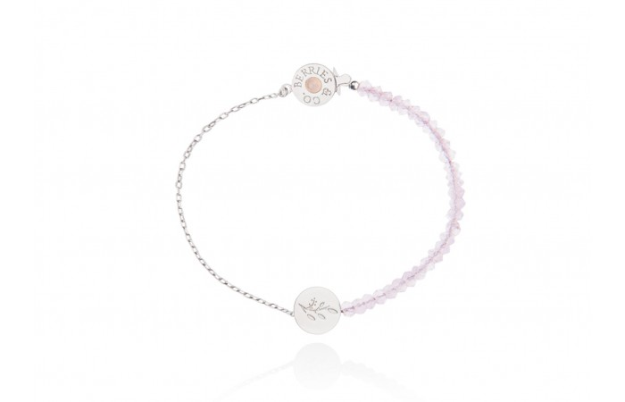 Bransoletka Pink Quartz Bloom