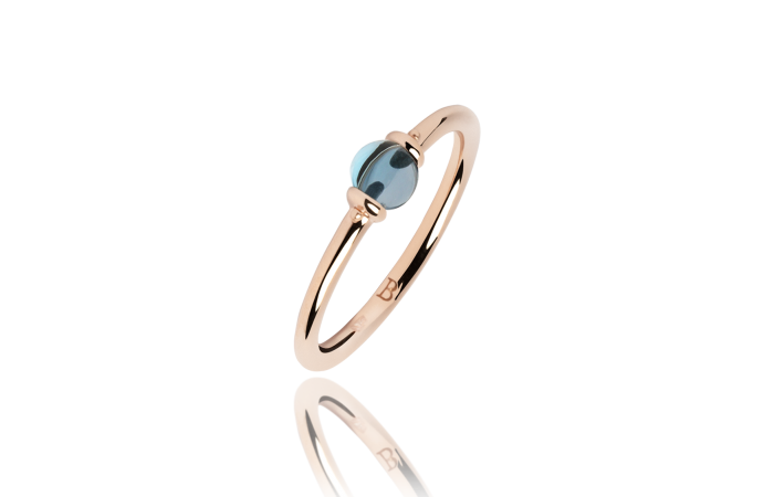 Pierścionek London Blue Topaz Pea