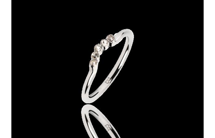 Pierścionek White Sapphire Crown