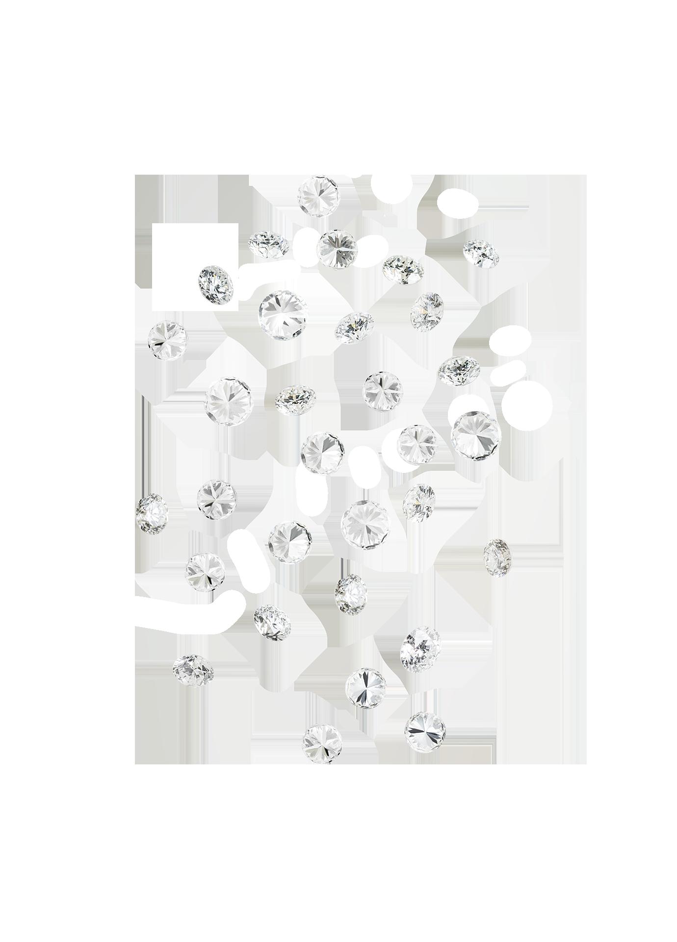 Złoty naszyjnik Secrets 18K White Diamonds