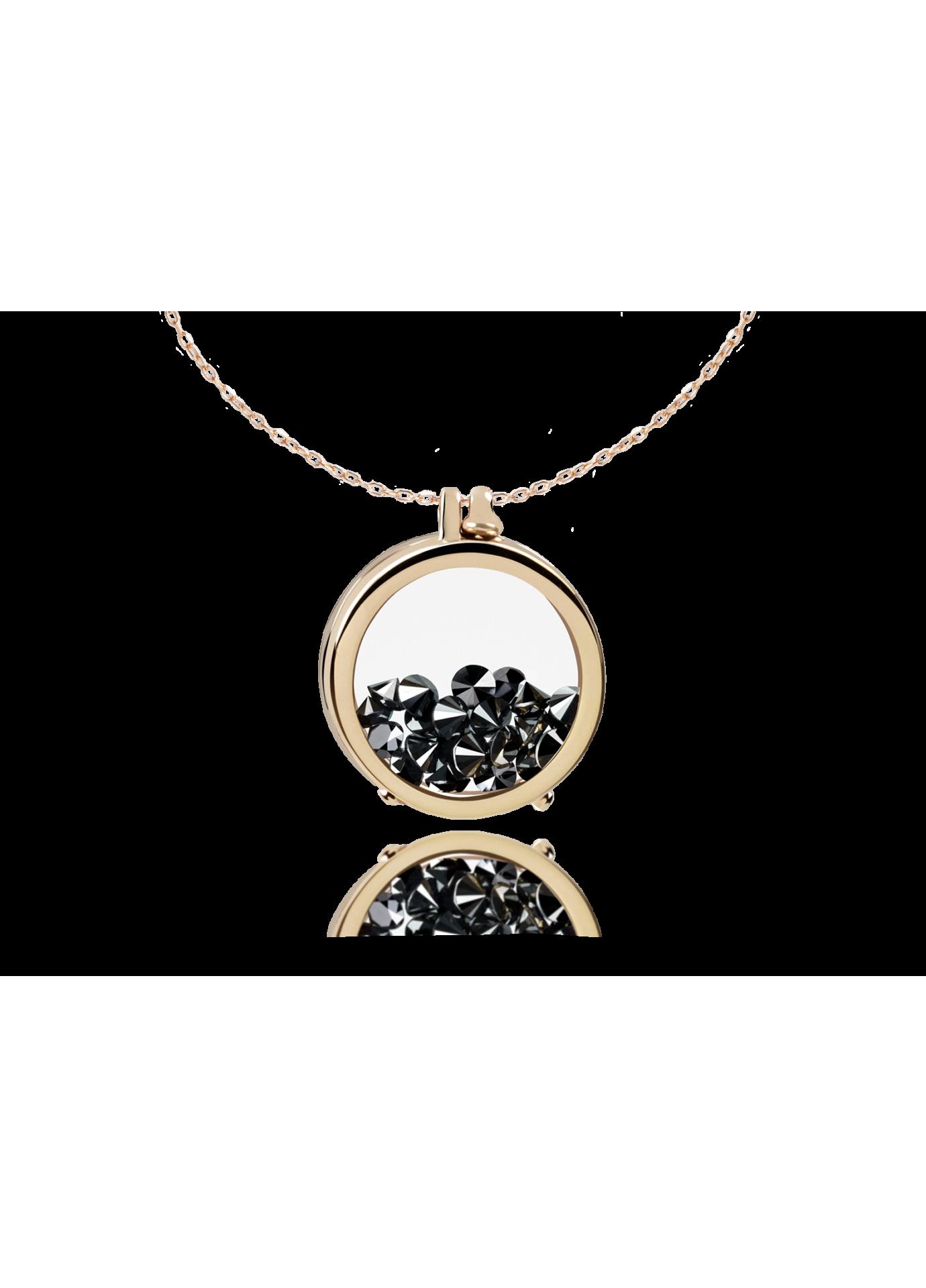 Złoty naszyjnik Secrets 18K Black Diamonds