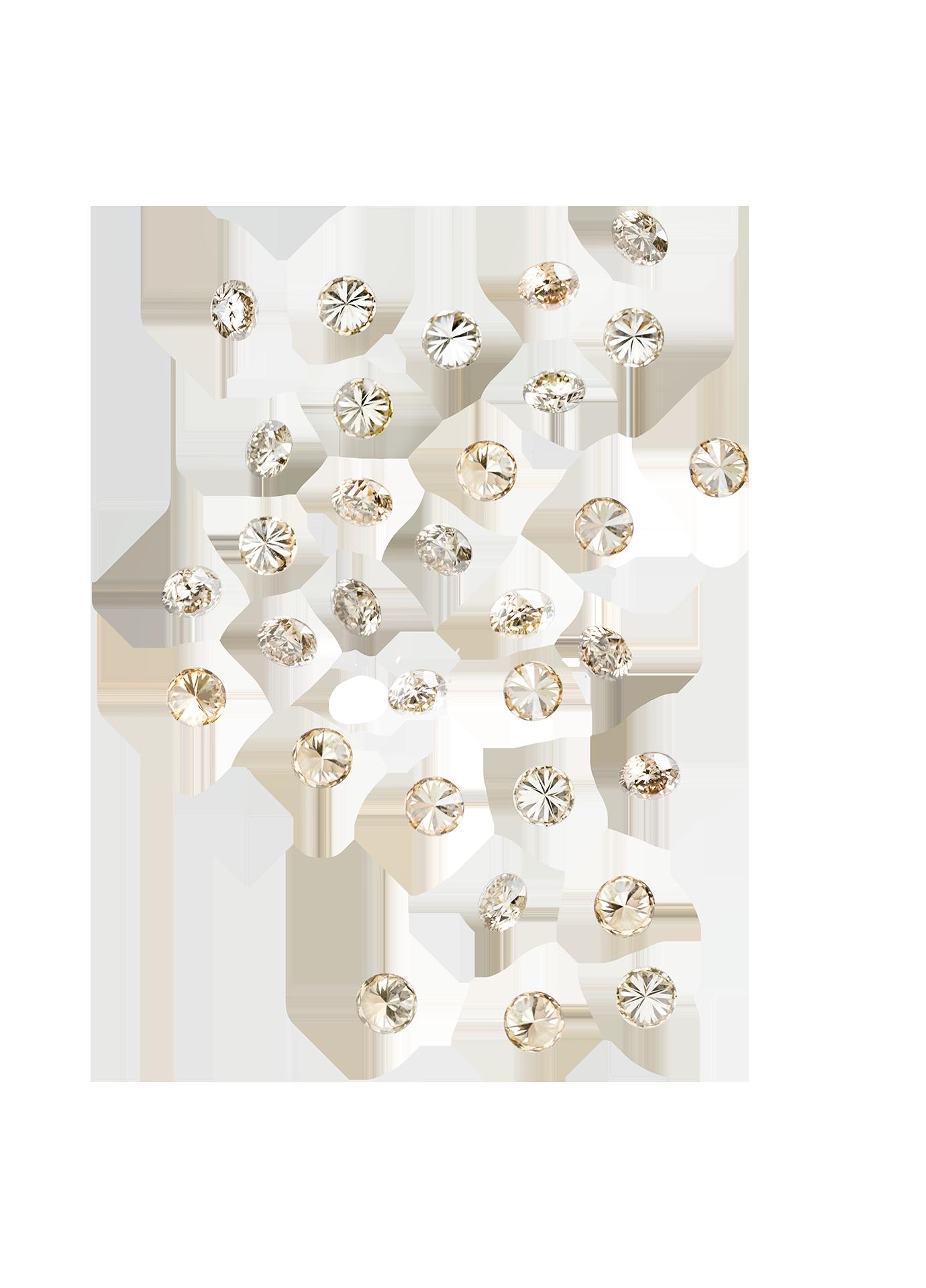 Złoty naszyjnik Secrets 18K Champagne Diamonds