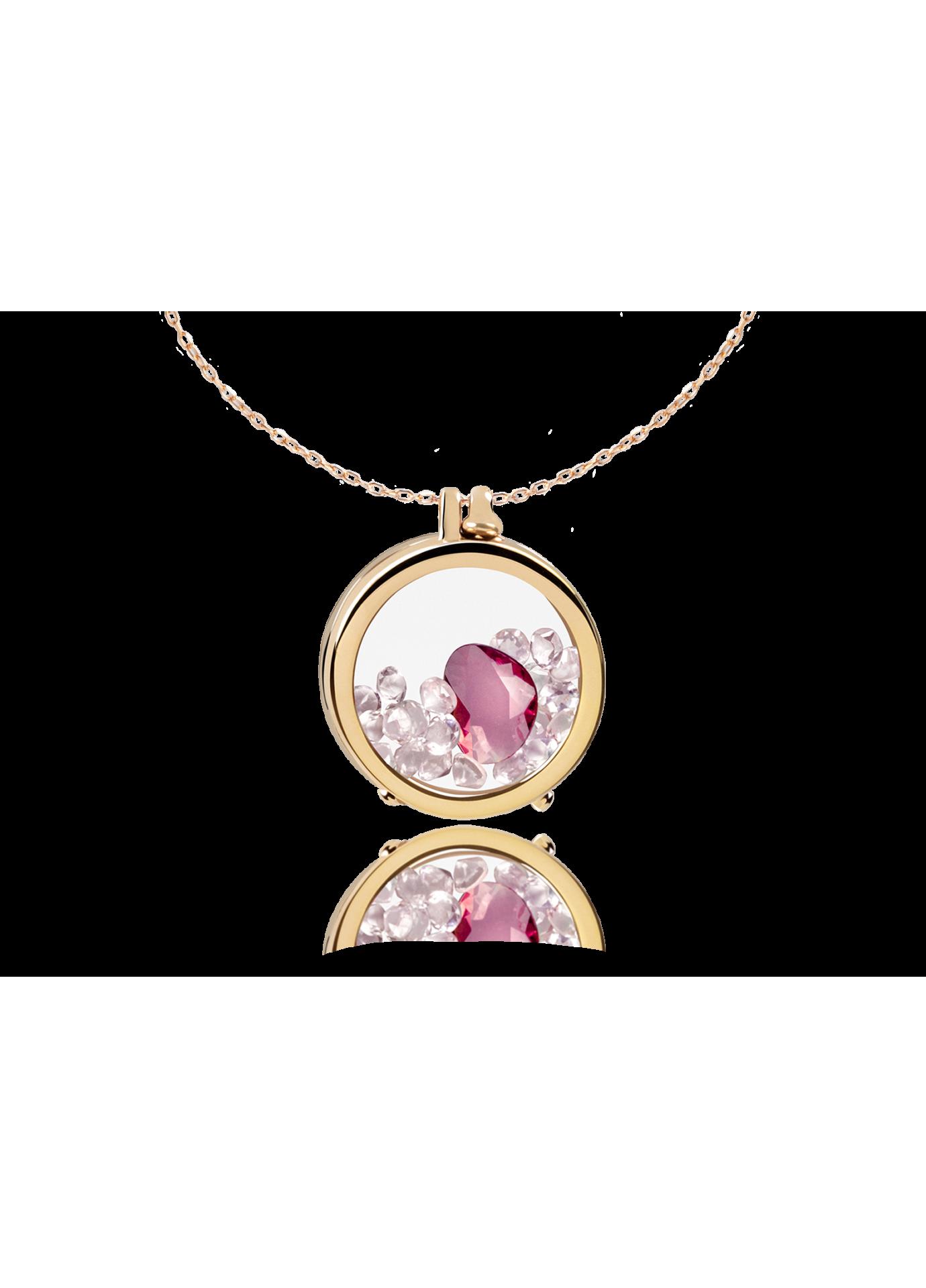 Złoty naszyjnik Secrets 18K Pink Flamingo