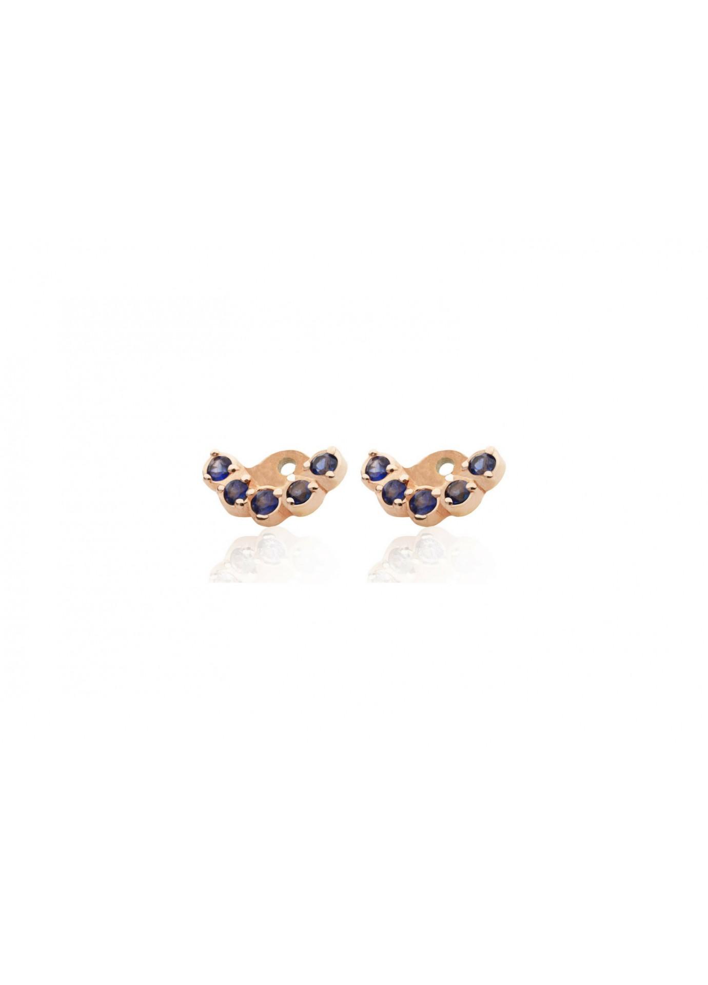 Nakładki do kolczyków Blue Sapphire Crowns